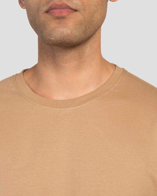Shop Men's Plain Full Sleeve T-shirt Pack of 2(Black & Brown)