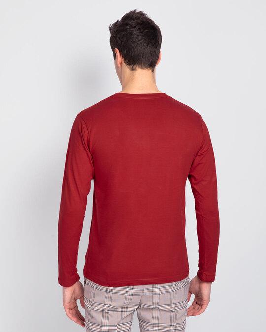 Shop Men's Plain Full Sleeve T-shirt Pack of 2(Black & Red)