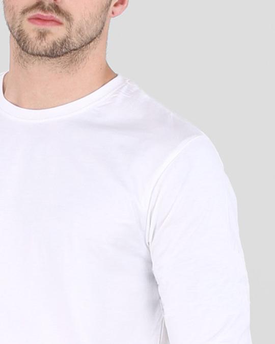 Shop Men's Plain Full Sleeve T-Shirt Pack of 2(Black & White )