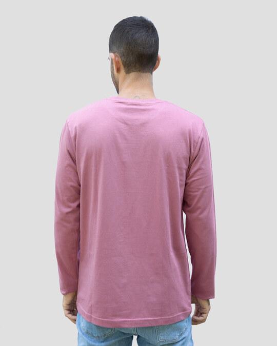 Shop Men's Plain Full Sleeve T-shirt Pack of 2(Pink & Grey)-Full