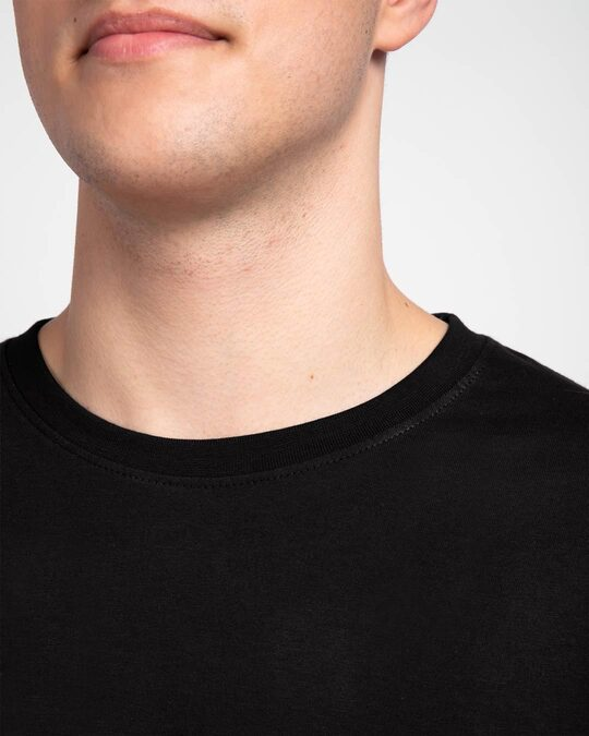 Shop Men's Plain Full Sleeve T-shirt Pack of 3 (Black, White & Grey)