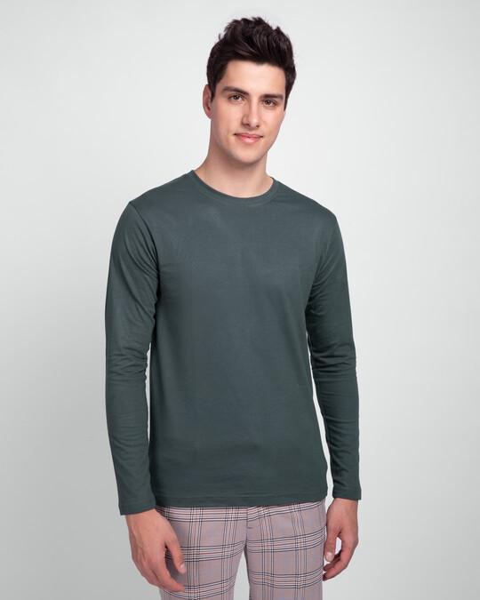 Shop Men's Plain Full Sleeve T-shirt Pack of 3 (Bold Red, Nimbus Grey, Galaxy Blue)-Design