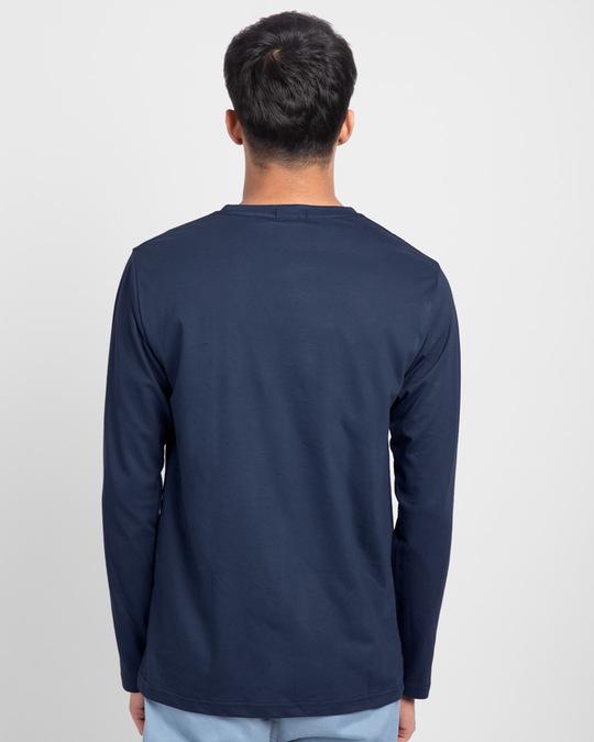 Shop Men's Plain Full Sleeve T-shirt Pack of 3 (Bold Red, Nimbus Grey, Galaxy Blue)