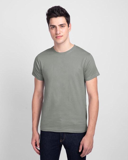 Shop Men's Plain Half Sleeve T-shirt Pack of 2(Black & Meteor Grey)-Design