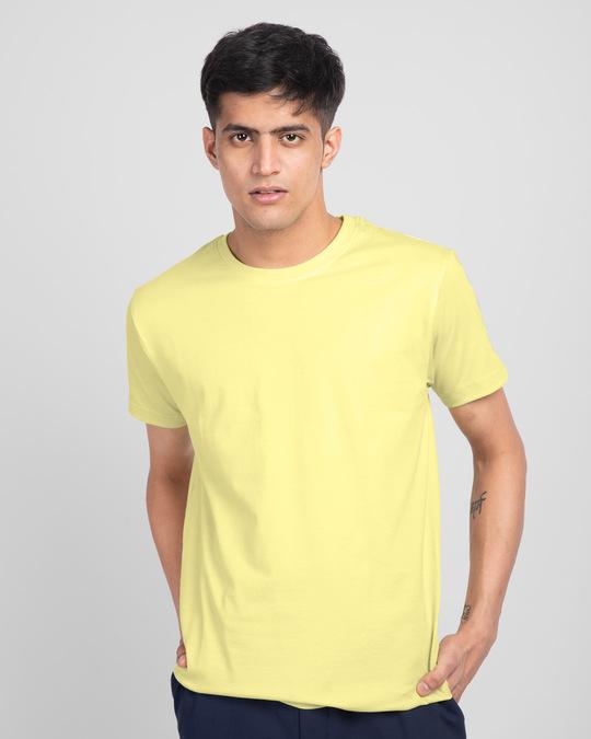 Shop Men's Plain Half Sleeve T-shirt Pack of 2(Blue & Yellow)-Design