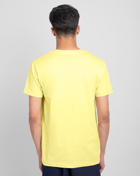 Shop Men's Plain Half Sleeve T-shirt Pack of 2(Blue & Yellow)