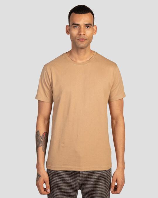 Shop Men's Plain Half Sleeve T-shirt Pack of 2(Red & Brown)-Back