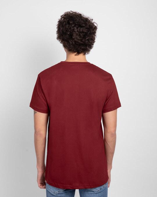 Shop Men's Plain Half Sleeve T-shirt Pack of 2(Red & Brown)