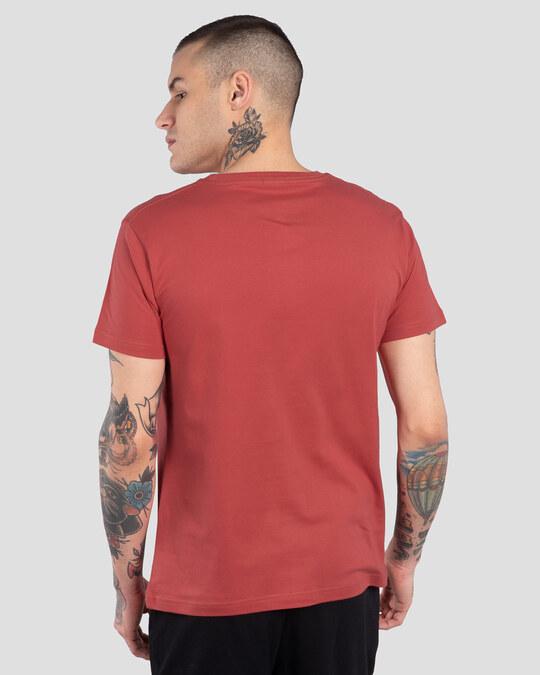 Shop Men's Plain Half Sleeve T-shirt Pack of 2(Red & Green)-Full