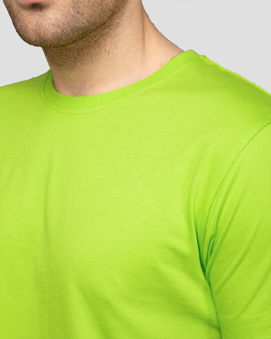 Shop Men's Plain Half Sleeve T-shirt Pack of 2(Bold Red & Neon Green)