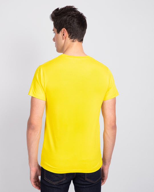 Shop Men's Plain Half Sleeve T-shirt Pack of 2(Red & Pineapple Yellow)