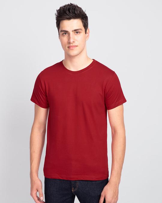 Shop Men's Plain Half Sleeve T-shirt Pack of 3(Black, Bold Red & Neon Green)-Design