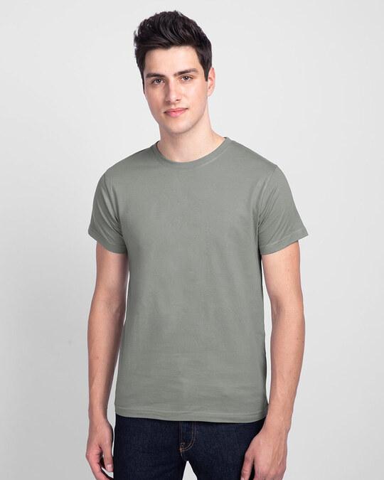 Shop Men's Plain Half Sleeve T-Shirt Pack of 3(Black, White & Grey)-Full
