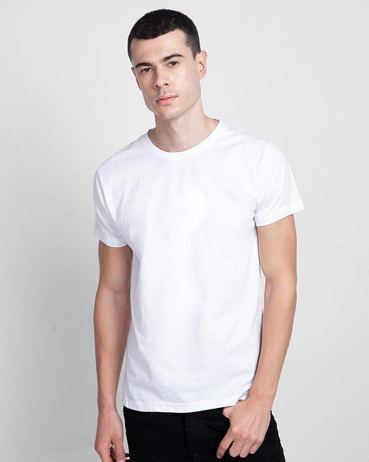 Shop Men's Plain Half Sleeve T-shirt Pack of 3(Black, White & Neon Green)-Design