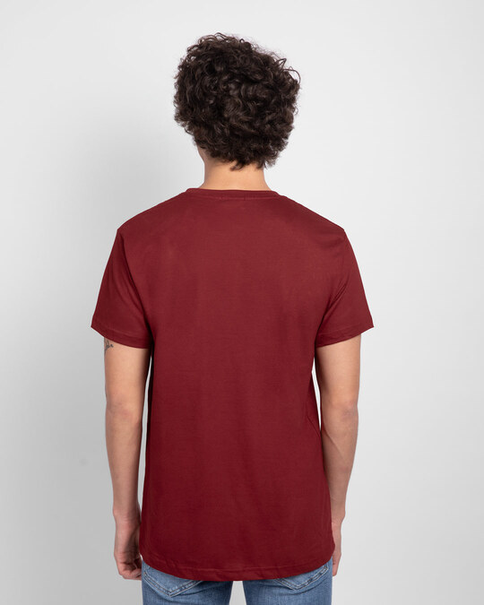 Shop Men's Plain Half Sleeve T-shirt Pack of 3 (Brown, Scarlet Red, White)