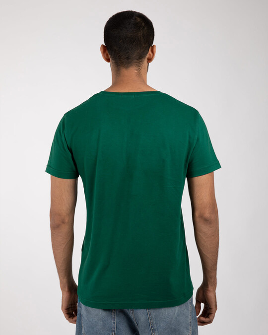 Shop Men's Plain Half Sleeve T-shirt Pack of 3 (Dark Forest Green-Deep Purple-White)