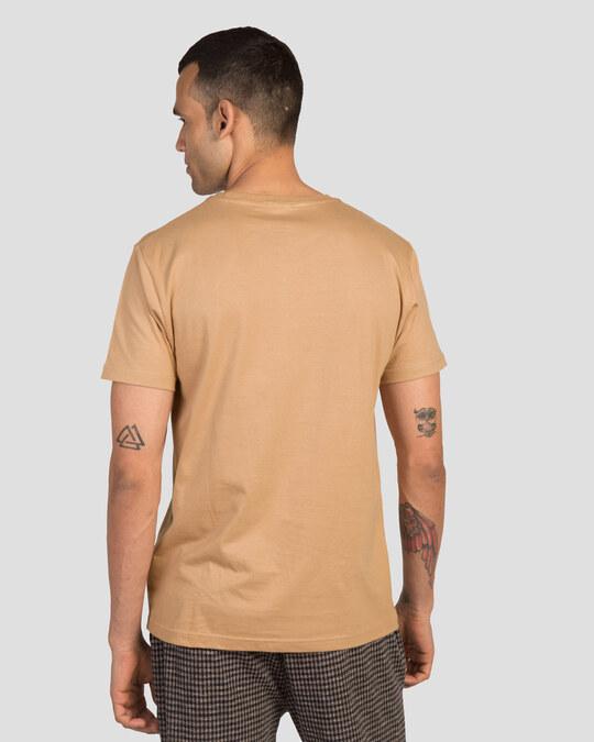 Shop Men's Plain Half Sleeve T-shirt Pack of 3(Green, Beige & Purple)