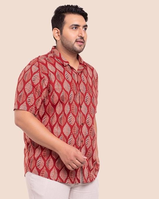 Shop Men's Printed Half Sleeves Plus Shirt-Design