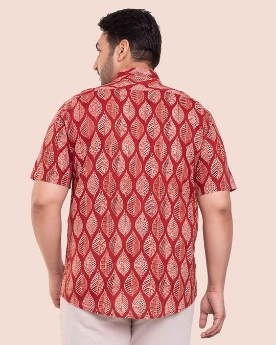 Shop Men's Printed Half Sleeves Plus Shirt-Full