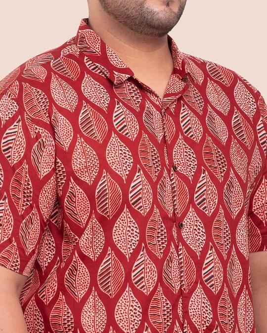 Shop Men's Printed Half Sleeves Plus Shirt