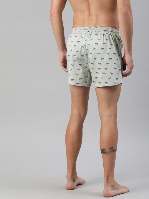 Shop Men's Printed Woven Boxers ( Pack Of 2 )-Full