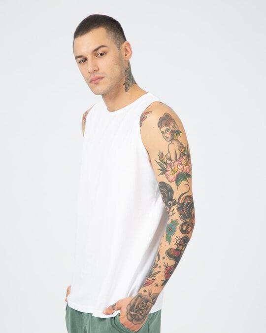 Shop Men's Round Neck Vest Pack of 2 (White)-Design
