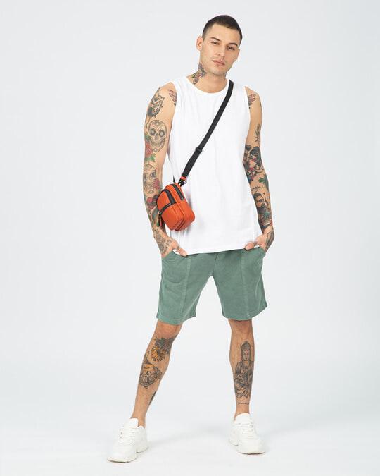 Shop Men's Round Neck Vest Pack of 2 (White)