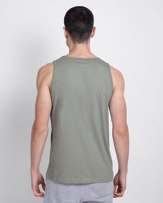 Shop Men's Round Neck Vest Pack of 2 (Black - Grey)