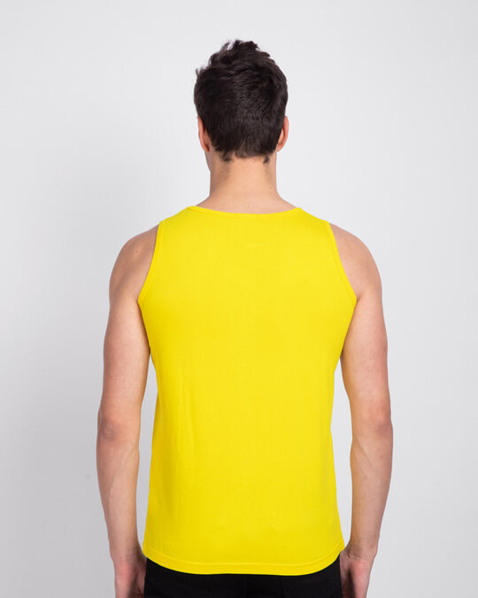 Shop Men's Round Neck Vest Pack of 2 (Pineapple Yellow & White)-Full