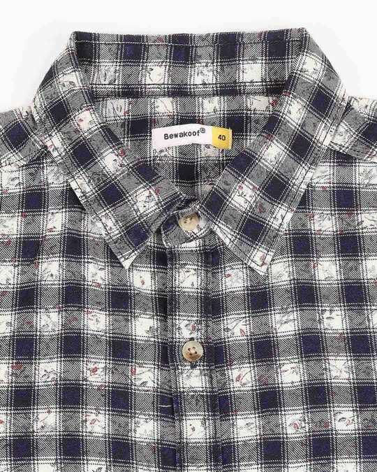 Shop Men's Slim Fit Casual Cotton Indigo Shirt