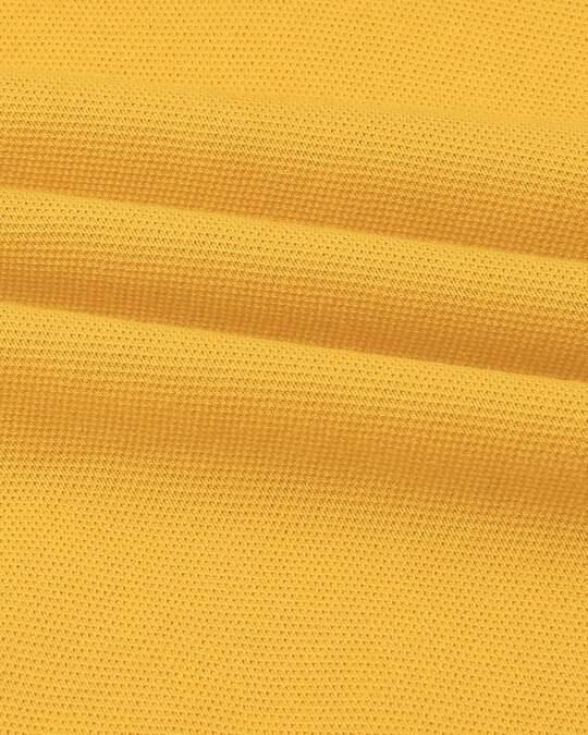Shop Men's Solid Knit Yellow Kurta