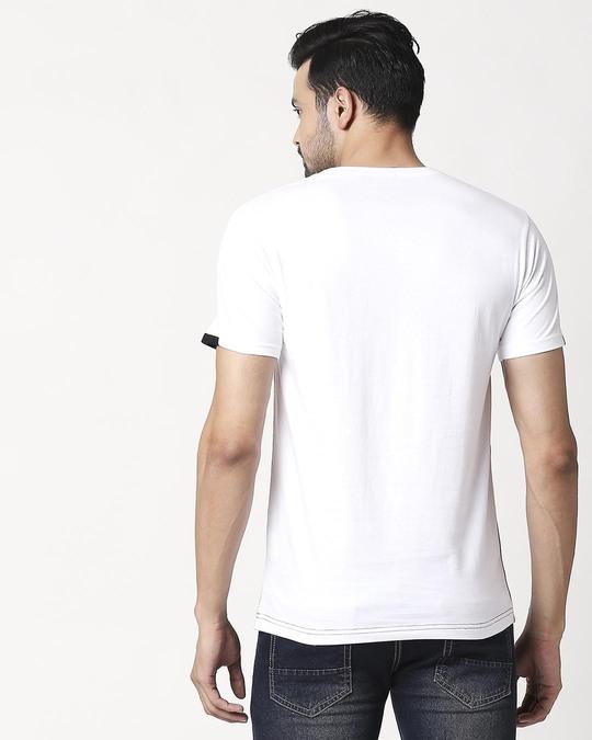 Shop Men's Sport Sleeve Colorblock T-shirt(Black-White)-Design