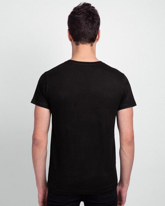 Shop Men's Plain Half Sleeves T-Shirt Pack of 3 (Black)-Full