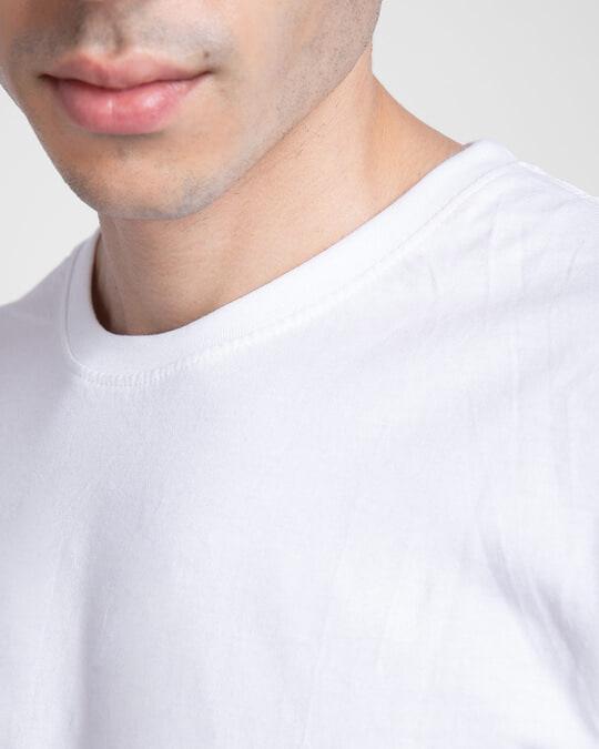 Shop Men's Plain Half Sleeve Pack of 2 (White)