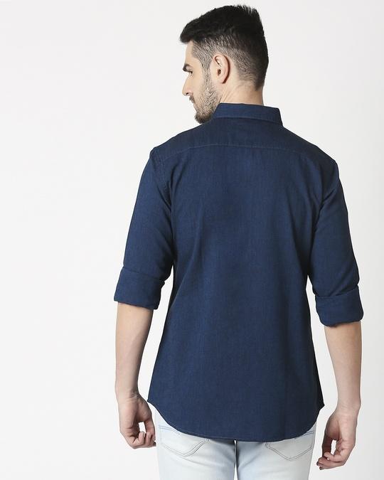 Shop Men's Teal Slim Fit Casual Oxford Shirt-Full