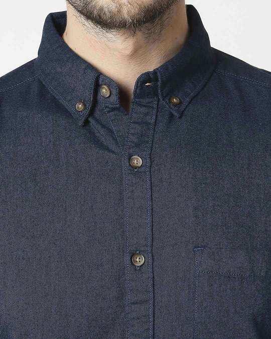 Shop Men's Teal Slim Fit Casual Oxford Shirt