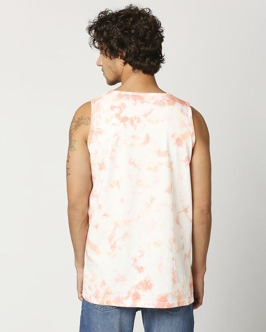 Shop Jomo Men's Tye & Dye Printed Vest-Full
