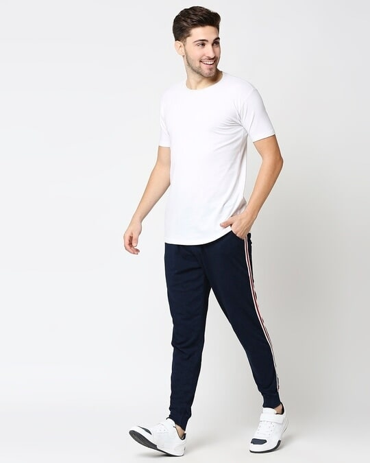 Shop Men's True Indigo Joggers with Side Tape