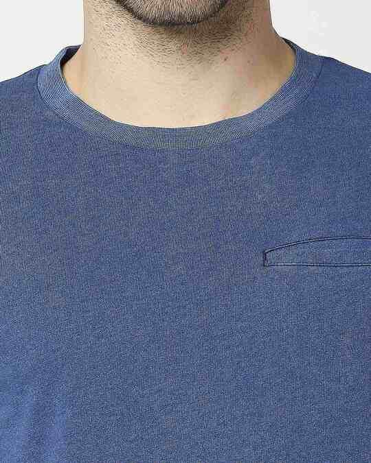 Shop Men's True Indigo Skate Cut Pocket T-shirt