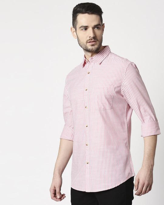 Shop Men's White Checks Slim Fit Casual Shirt-Design