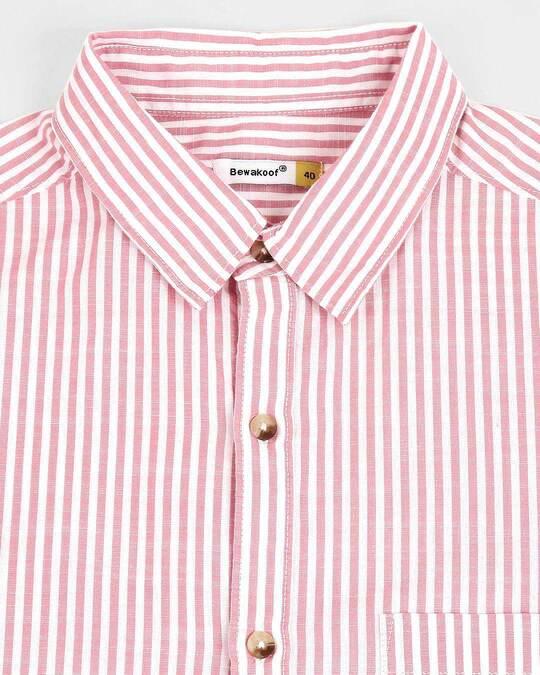Shop Men's White Checks Slim Fit Casual Shirt