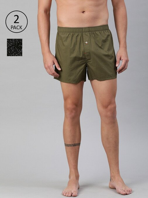 Shop Men's Woven Boxer ( Pack Of 2 )-Front