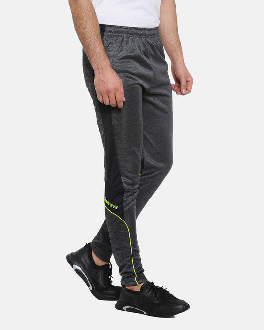 Shop Campus Sutra men's Stylish Black Trackpants-Back