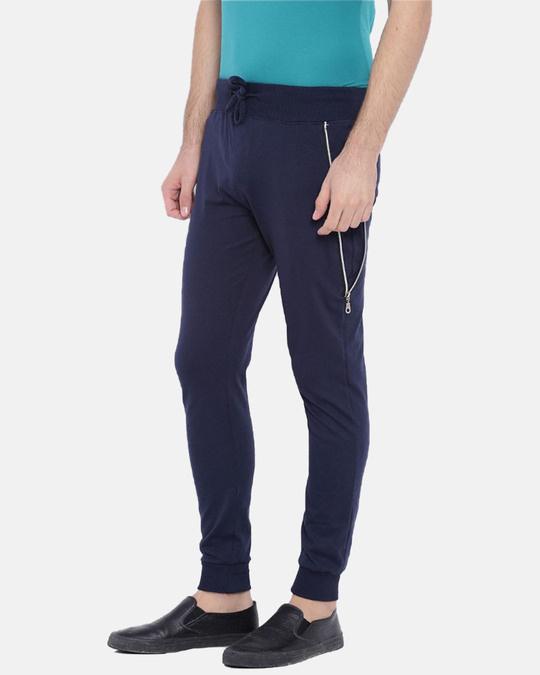 Shop Men's Stylish Blue Joggers-Full