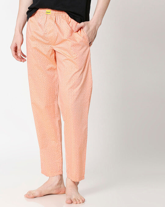 Shop Peach Cones Men's Pyjama-Front