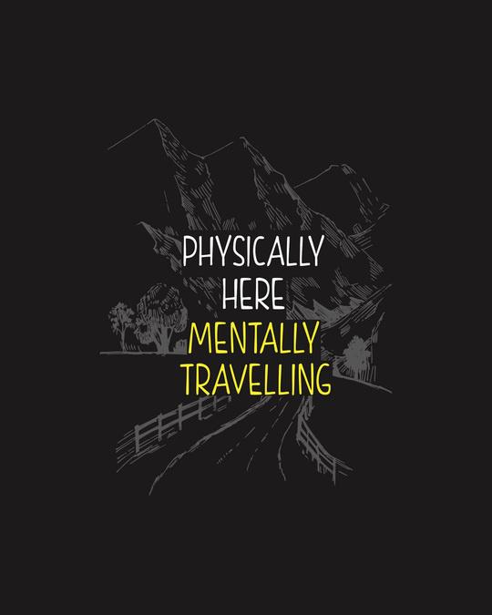 Shop Mentally Travelling  Half Sleeve T-shirt Black-Full