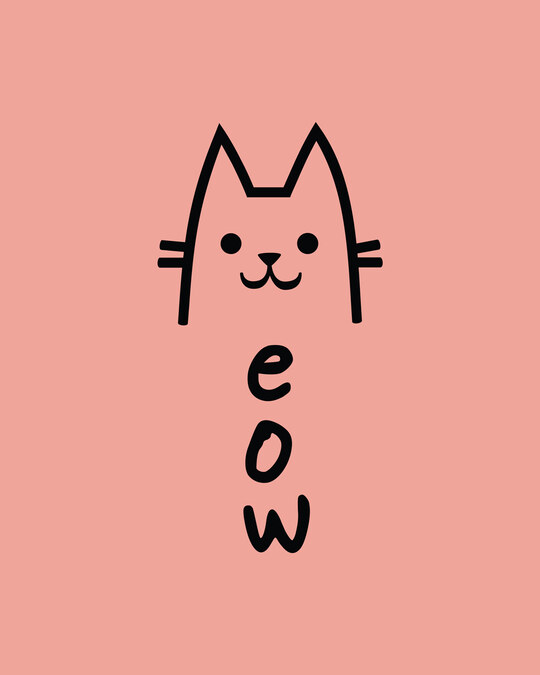 Shop Meow 2.0 Round Neck 3/4 Sleeve T-Shirts Misty Pink
