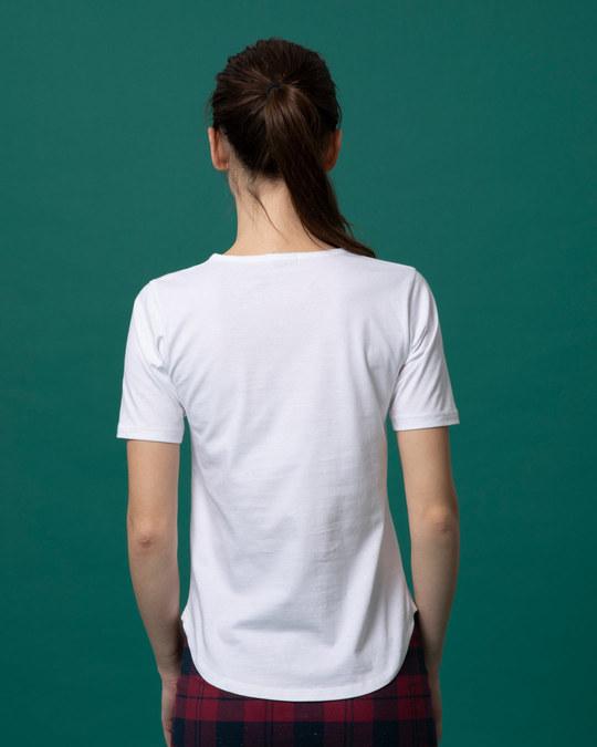 Shop Meow Typo Basic Round Hem T-Shirt-Full