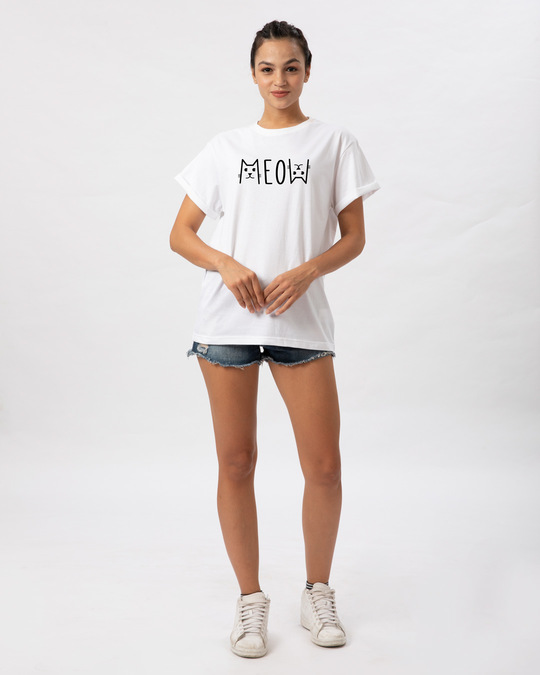 Shop Meow Typo Boyfriend T-Shirt