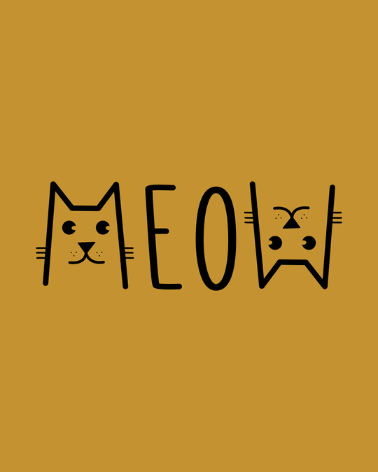 Shop Meow Typo Boyfriend T-Shirt